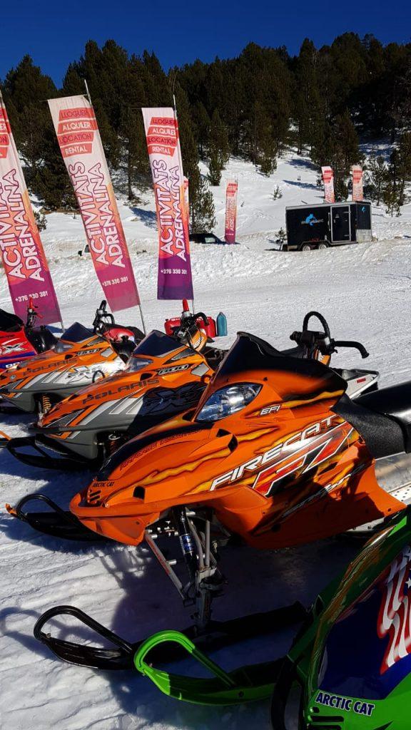 fotos motos de nieve andorra alquiler de motos de nieve rutas en motos de nieve